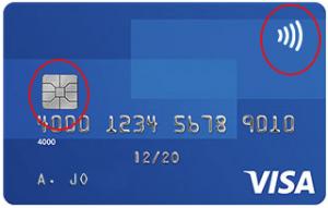 כרטיס אשראי CONTACTLESS + CHIP