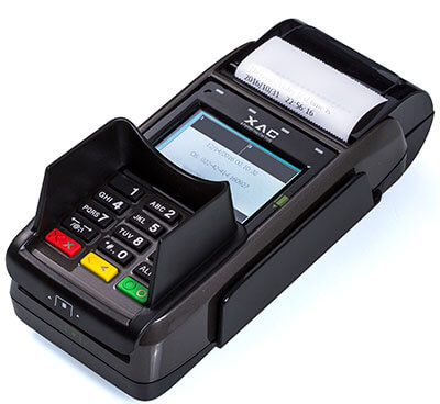 מסוף אשראי EMV נייד עם מגן פרטיות