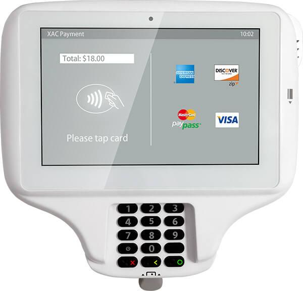 מסוף אשראי EMV עם מסך מגע גדול