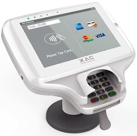 מסוף אשראי EMV עם מסך מגע גדול כולל מגן פרטיות